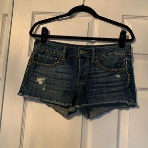 Woman's American eagle rhinestone jean shorts